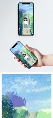 郊游女孩手机壁纸图片