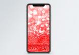 红色光斑背景手机壁纸图片