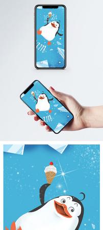 企鹅可爱手机壁纸图片