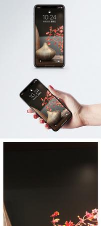插花手机壁纸手图片