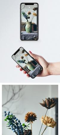 复古花瓶手机壁纸图片
