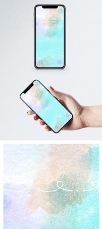 水彩抽象背景手机壁纸图片