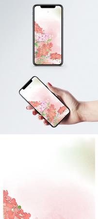 手绘鲜花手机壁纸图片