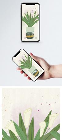 水彩鲜花手机壁纸图片