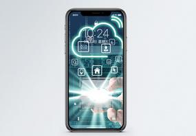 商务云数据手机壁纸图片