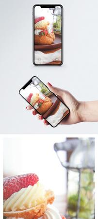 草莓蛋糕手机壁纸图片