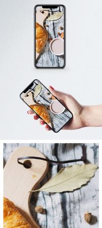 面包咖啡手机壁纸图片