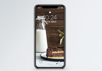 蛋糕牛奶手机壁纸图片