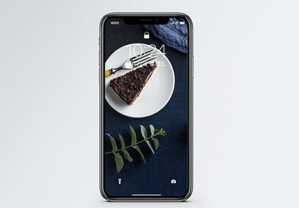 巧克力蛋糕手机壁纸图片