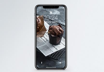 巧克力麦芬手机壁纸图片