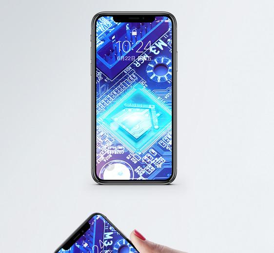 电路板科技手机壁纸