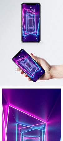 霓虹灯场景手机壁纸图片