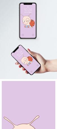 萌趣蜗牛手机壁纸图片