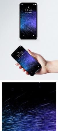 放射星空背景手机壁纸图片