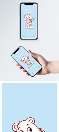 卡通熊手机壁纸图片