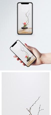 日式插花手机壁纸图片