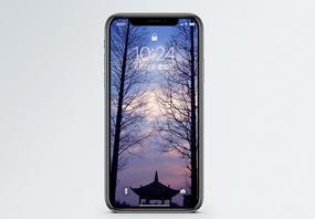 太湖黄昏风景手机壁纸图片