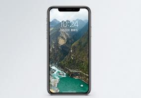 虎跳峡山谷手机壁纸图片