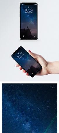 银河与流星手机壁纸图片