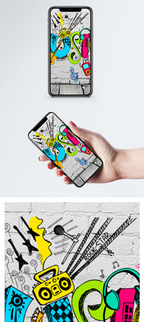 墙绘涂鸦手机壁纸图片