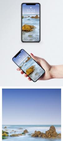 大海礁石手机壁纸图片