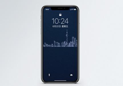 手绘城市手机壁纸图片