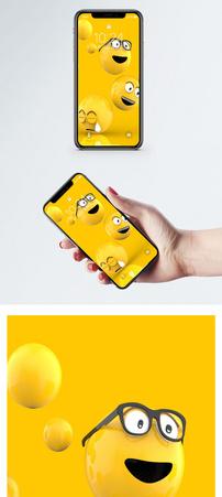 小黄脸手机壁纸图片