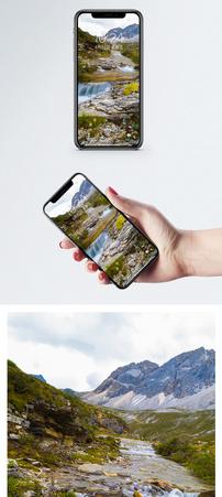 亚丁湖泊手机壁纸图片