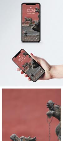 香炉特写手机壁纸图片