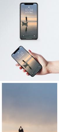 天空之镜茶卡盐湖手机壁纸图片
