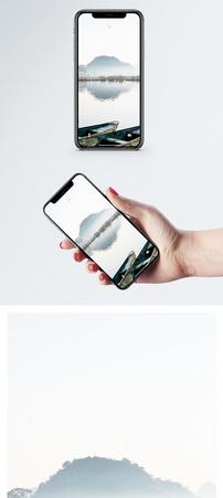 普者黑小舟手机壁纸图片