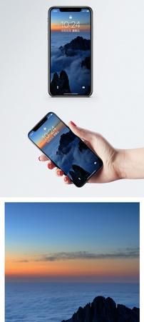 黄山日出手机壁纸图片