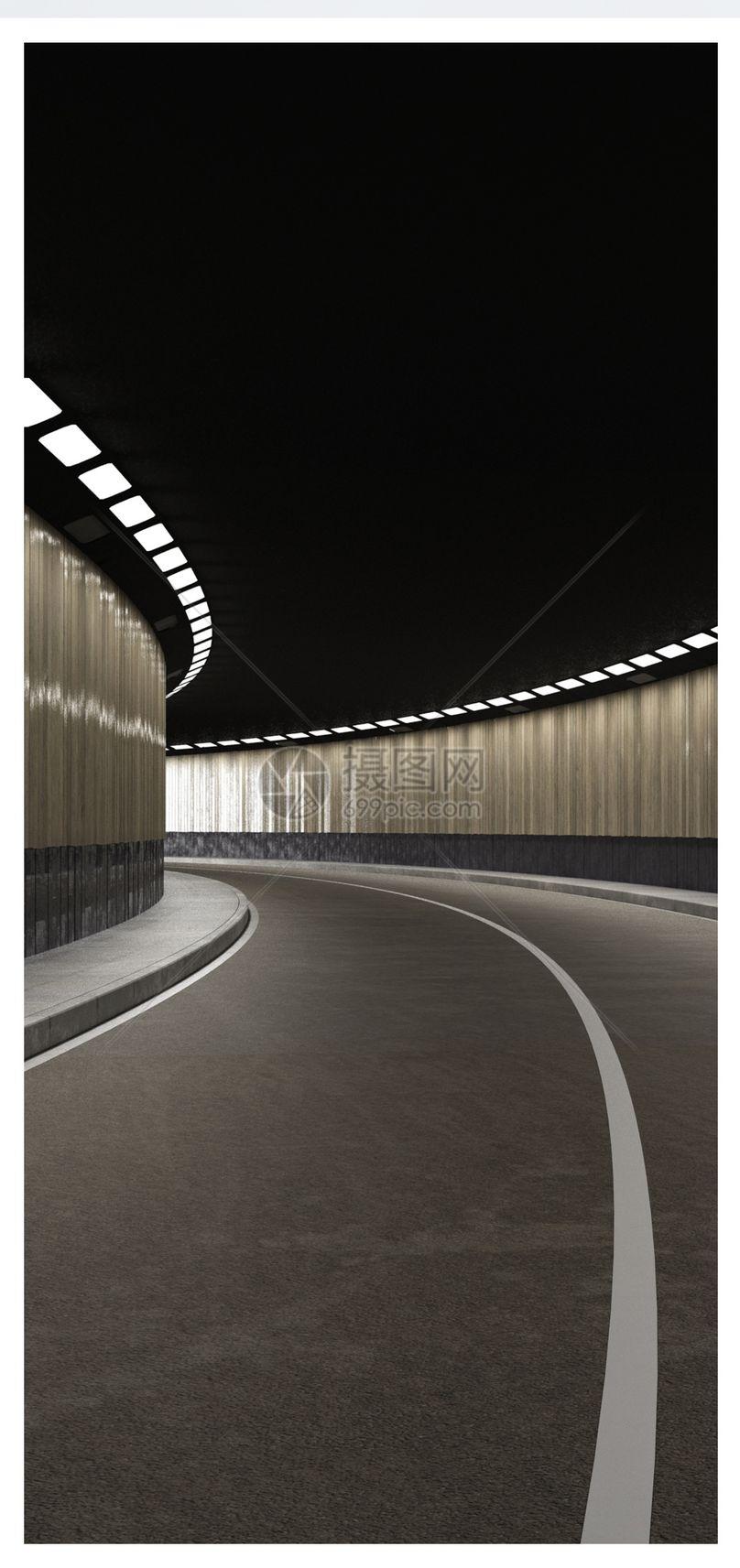 隧道空间场景手机壁纸图片