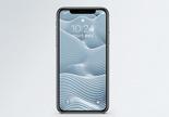 3d抽象波浪背景手机壁纸图片