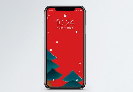 圣诞手绘背景手机壁纸图片