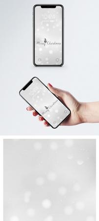 圣诞雪花背景手机壁纸图片