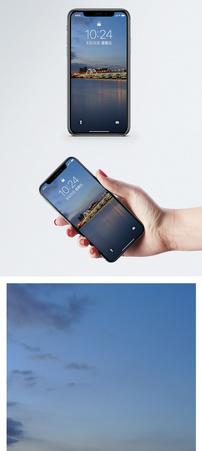 杭州钱塘江夜色手机壁纸图片