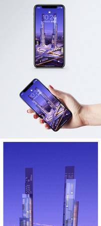 现代景观夜景手机壁纸图片