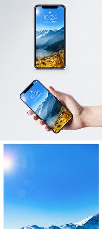 天池的秋季手机壁纸图片