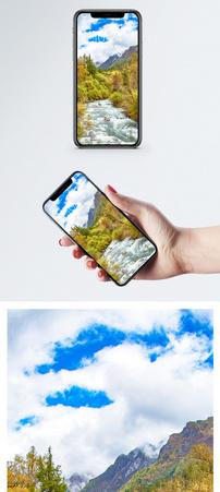四姑娘山长坪沟秋天手机壁纸图片