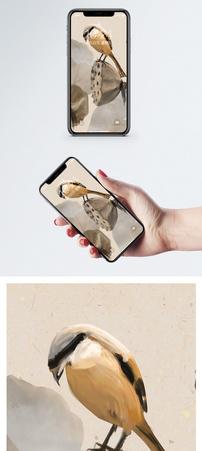 荷花小鸟手机壁纸图片