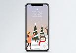 下雪手机壁纸图片