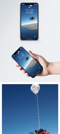 高空跳伞手机壁纸图片