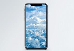 高空云端背景手机壁纸图片