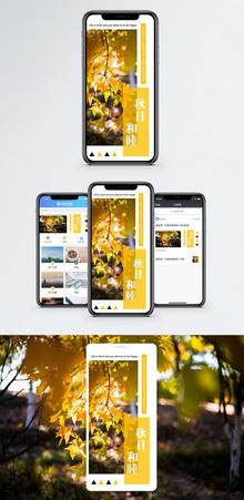 秋日手机海报配图图片