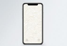 祥云底纹手机壁纸图片