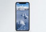 冬季雪地手机壁纸图片