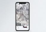 冬日雪景手机壁纸图片
