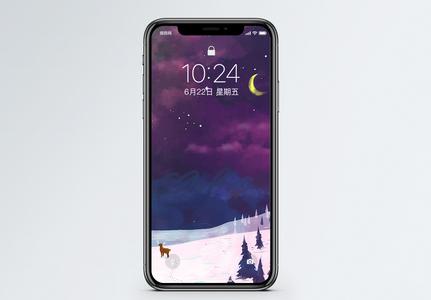 冬天夜景手机壁纸图片