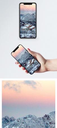 黄山冬天景色手机壁纸图片